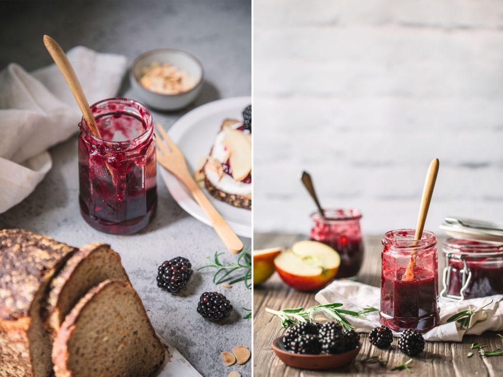 Apfel-Brombeer-Marmelade ohne Zucker kochen