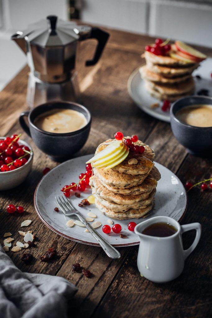 Gesunde Bircher Pancakes