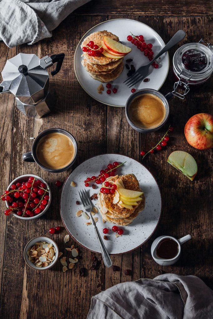 Rezept für Bircher Pancakes