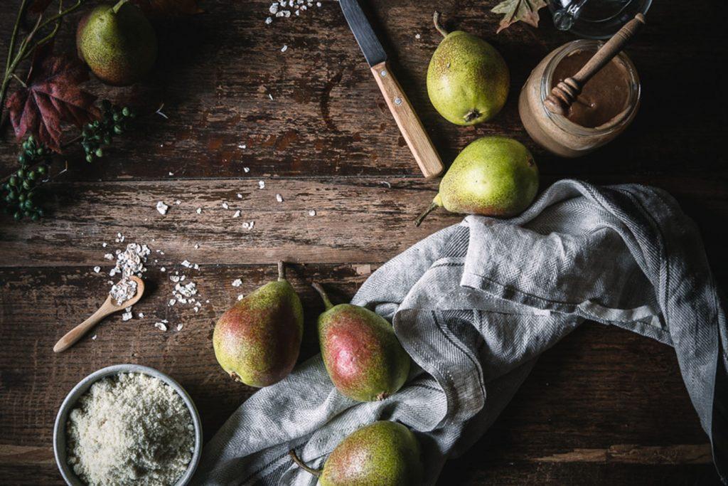 Zutaten für Veganen Birnenkuchen