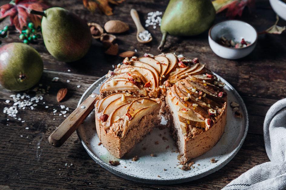 Rezept für Veganer Birnenkuchen