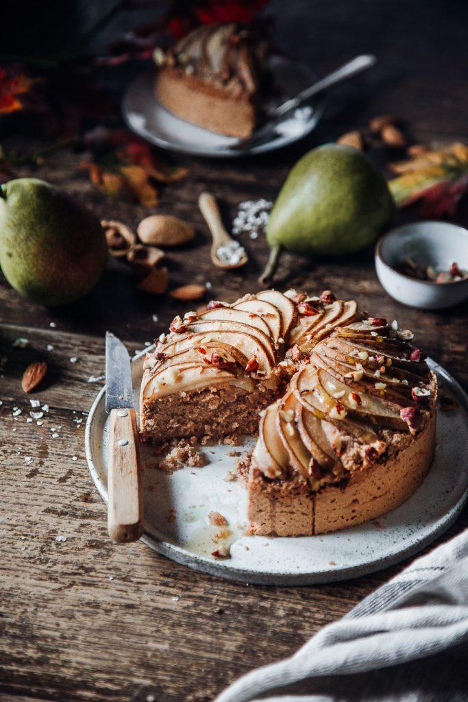 Birnenkuchen aus gesunden Zutaten