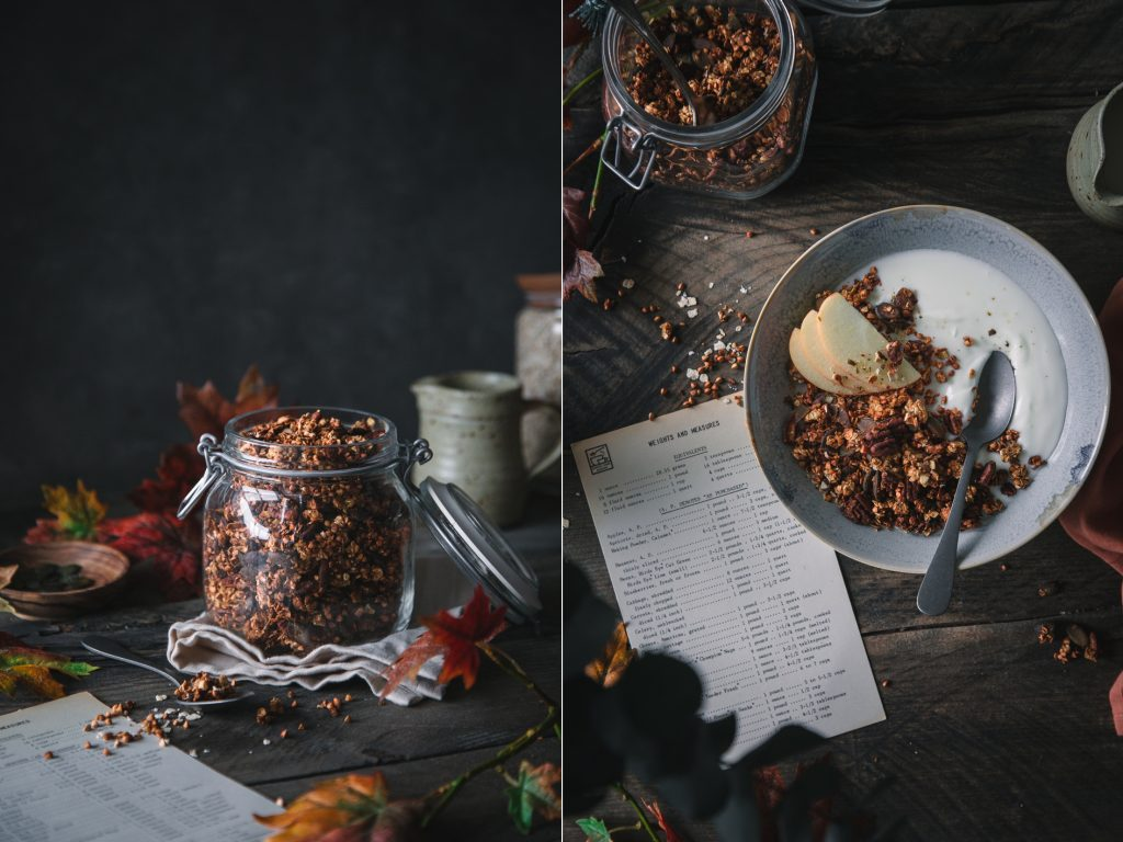 Rezept für knuspriges Herbst Granola