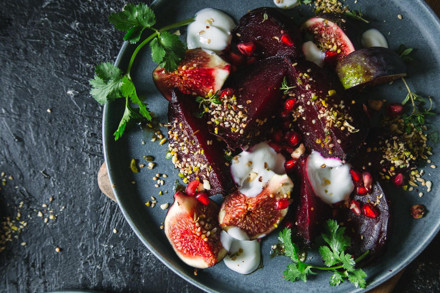 Rote Bete Feigen Salat