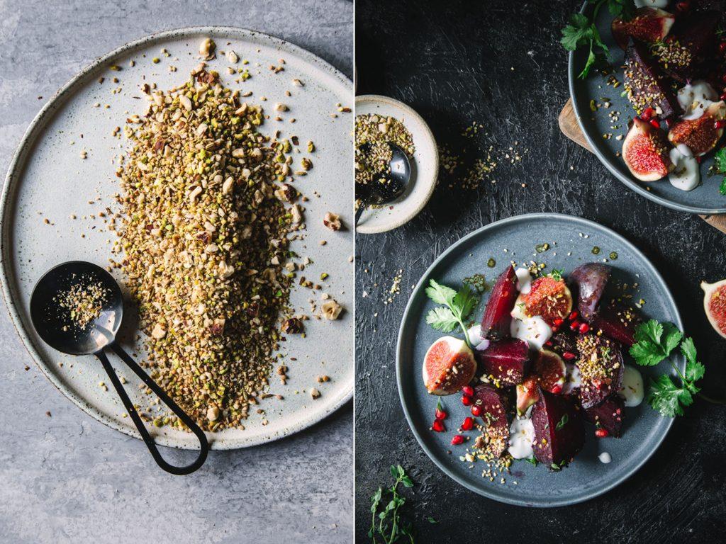 Warmer Rote Bete Feigen Salat