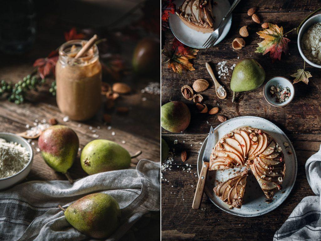 Zutaten für Veganer Birnenkuchen