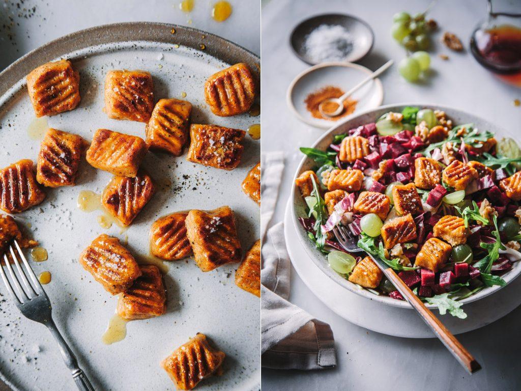 Salat mit Süßkartoffelgnocchi
