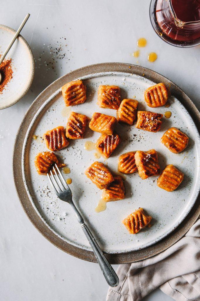 Karamellisierte Süßkartoffelgnocchi