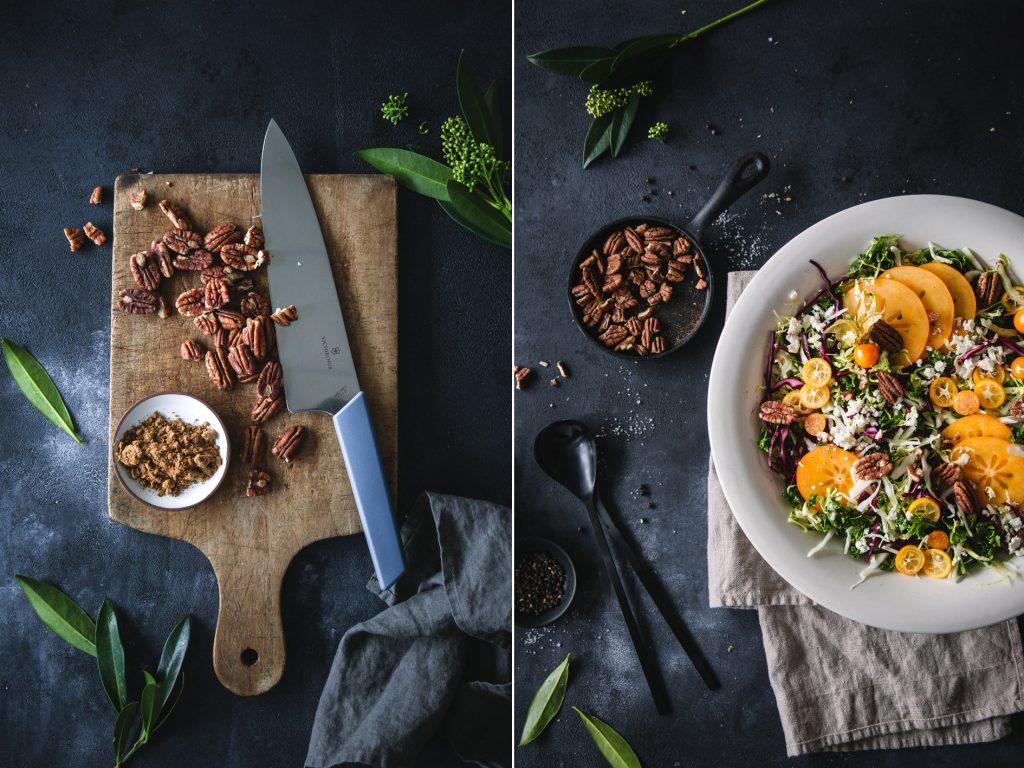 Kohlsalat mit Pekannüssen