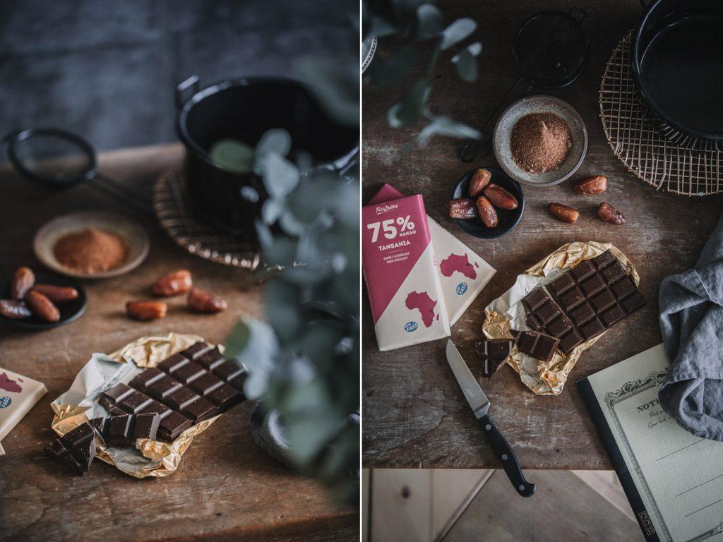 Selbst gemachte Schokoladenpralinen