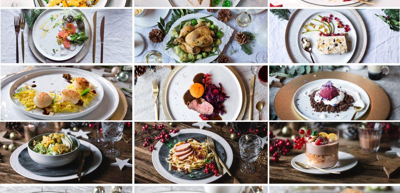 5 unterschiedliche Weihnachtsmenüs
