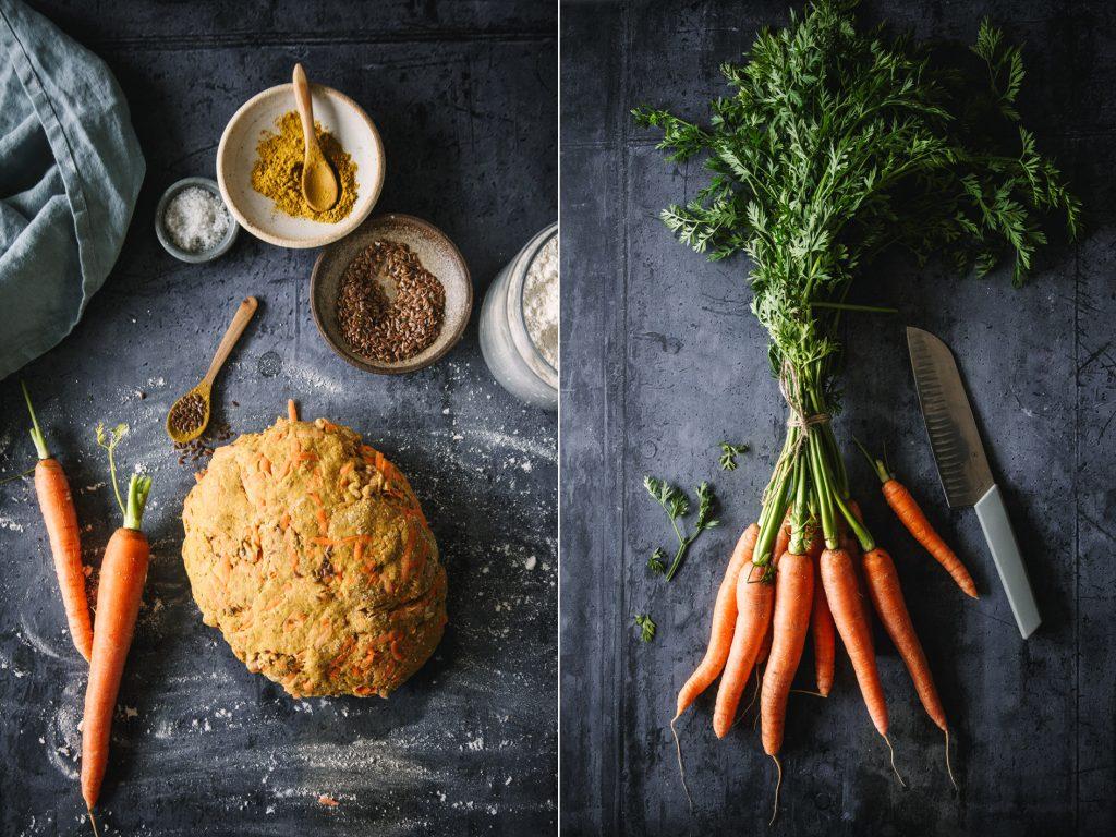 Zutaten für Curry Möhrenbrot