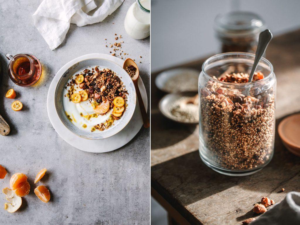 Granola mit Quinoa und Ahornsirup
