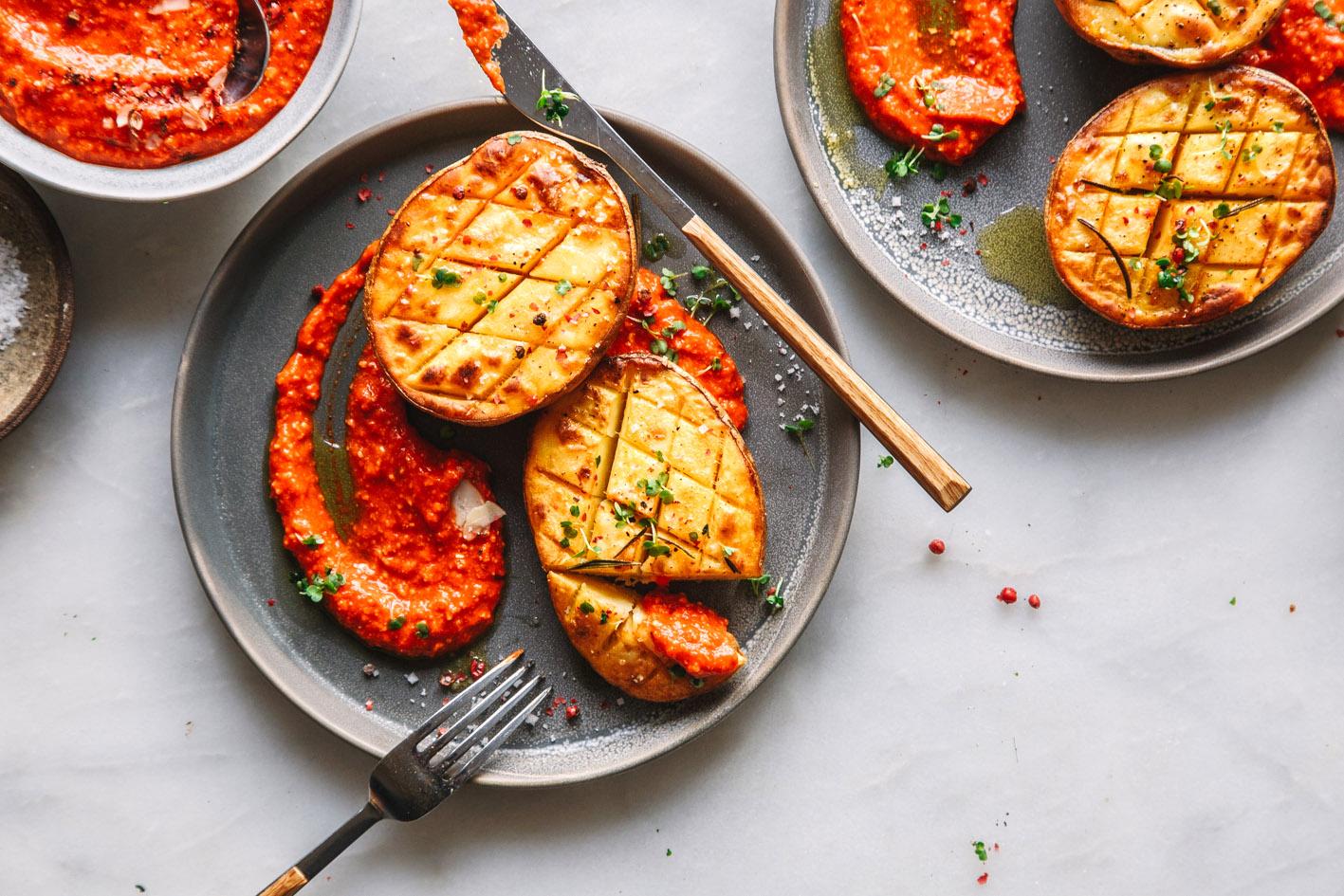 Kartoffeln mit Romesco-Sauce