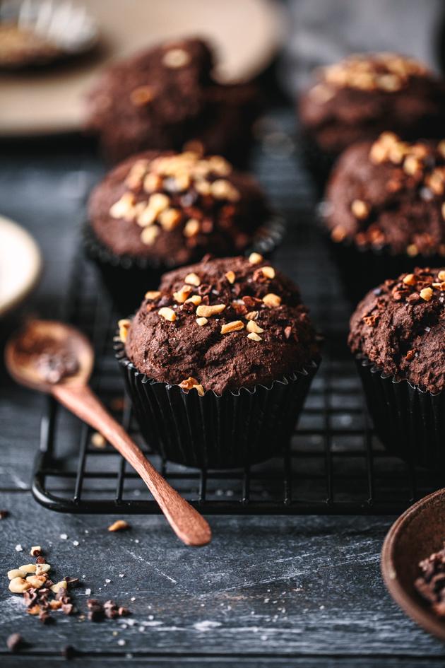 Rezept für Schokoladenmuffins mit Leinsamen