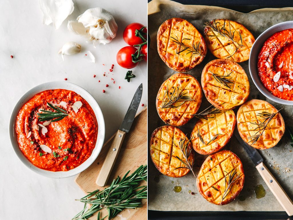Kartoffeln mit Romesco Sauce