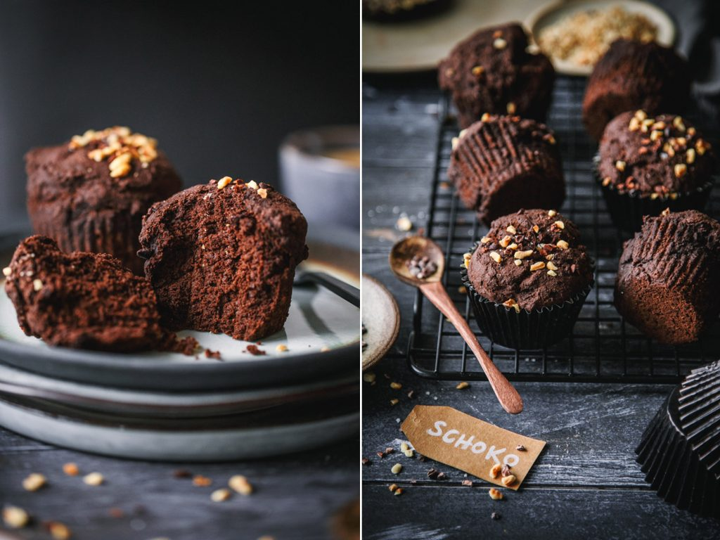 Schokoladenmuffin mit Leinsamen