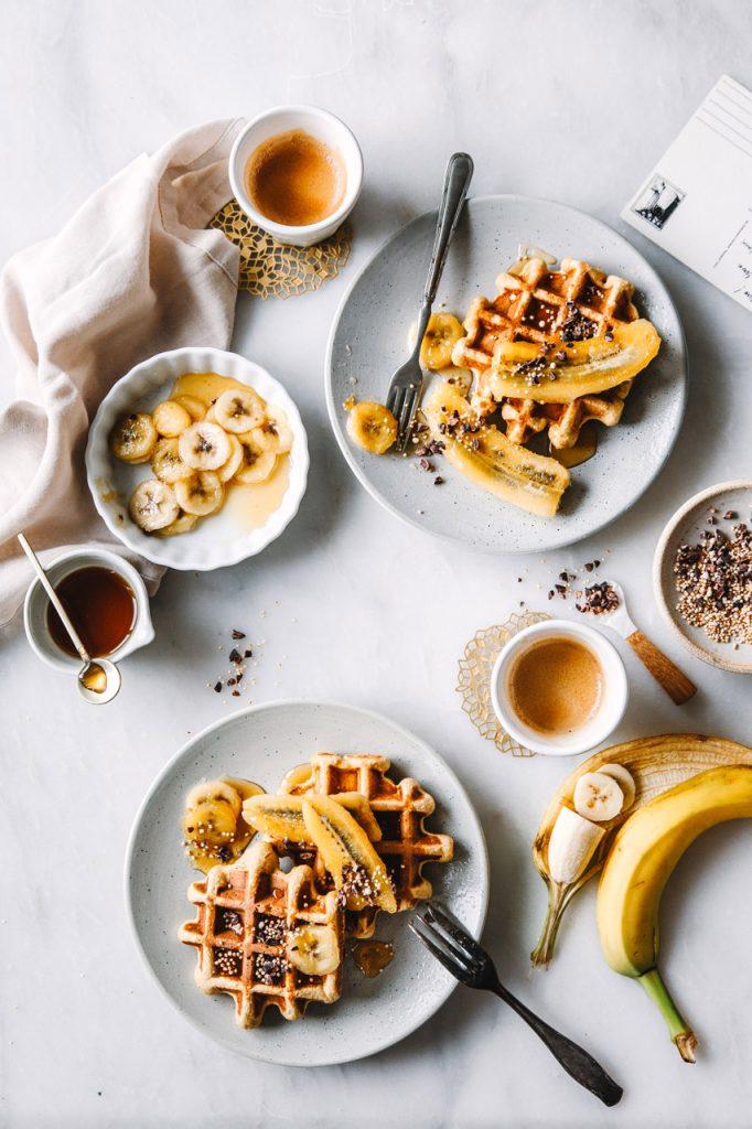 Gesunde Bananen-Quinoa-Waffeln