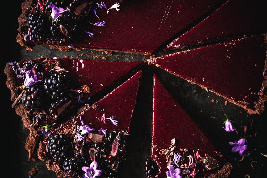 Brombeer-Schokoladen-Tarte