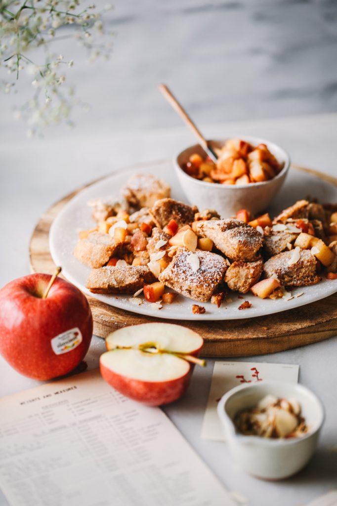 Buchweizen-Kaiserschmaarn mit Apfelwürfeln