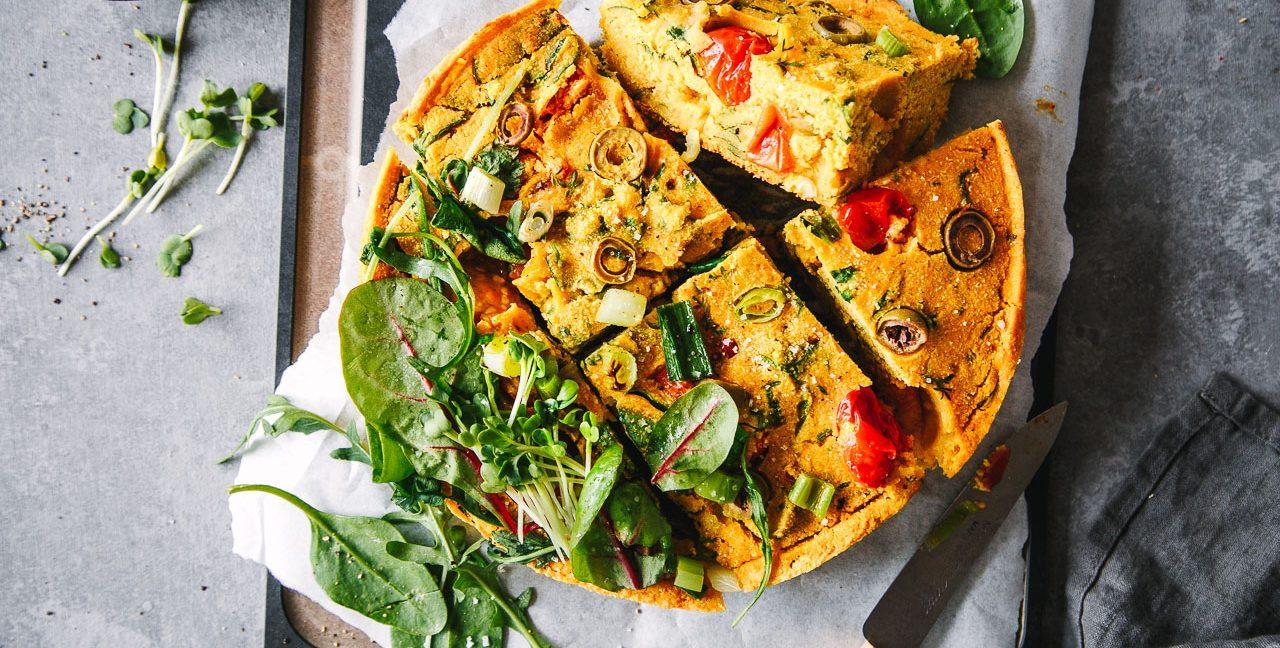 Kichererbsen Frittata (vegan)