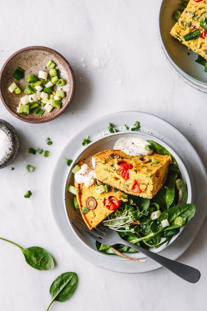 vegane Kichererbsen-Frittata
