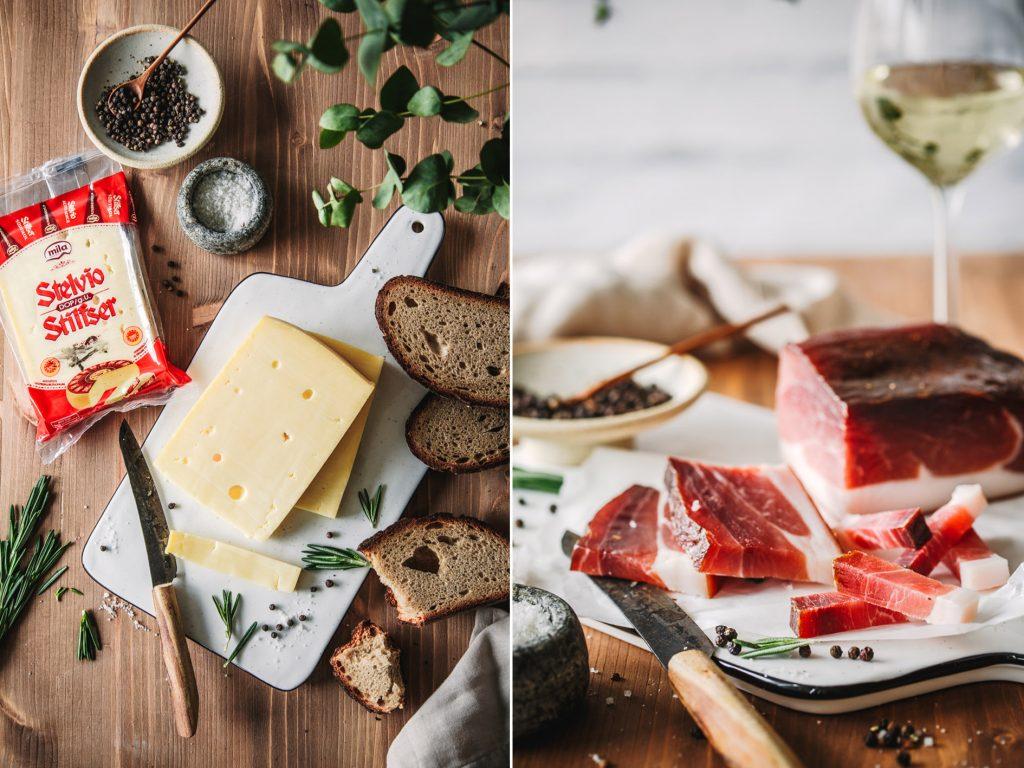 Südtiroler Käse und Speck