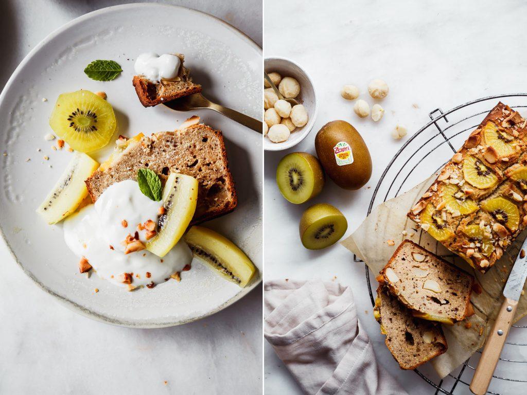 Kiwi Banana bread mit Joghurt