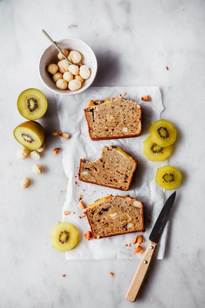 Rezept für gesunden Kiwi Banana Bread