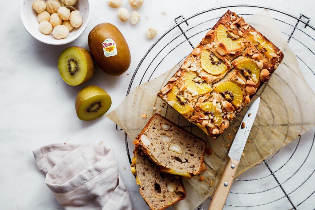 Banana Kiwi Bread aus gesunden Zutaten