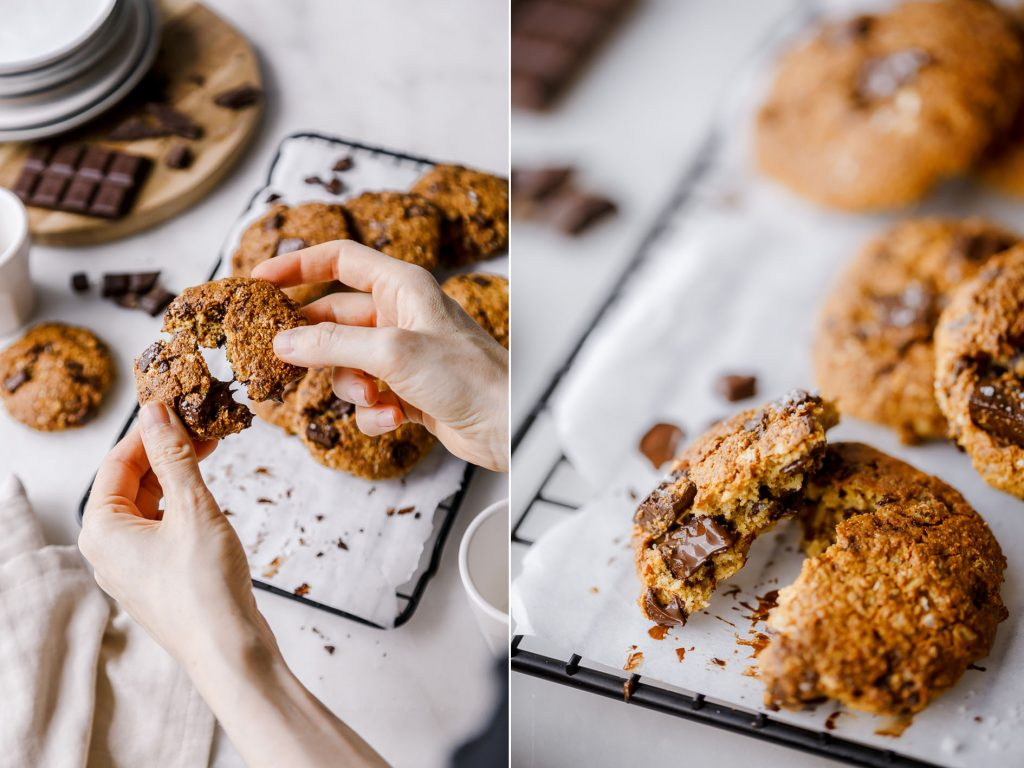 Cookies mit großen Schoko Stücken