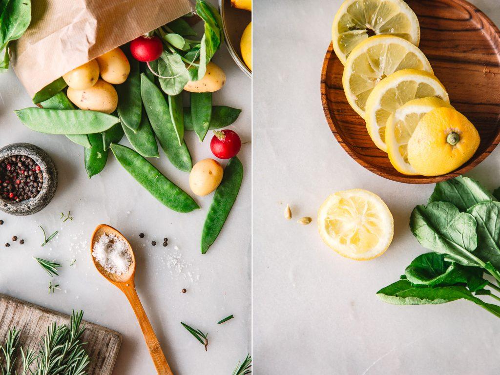 Zutaten für gesunde Ernährung