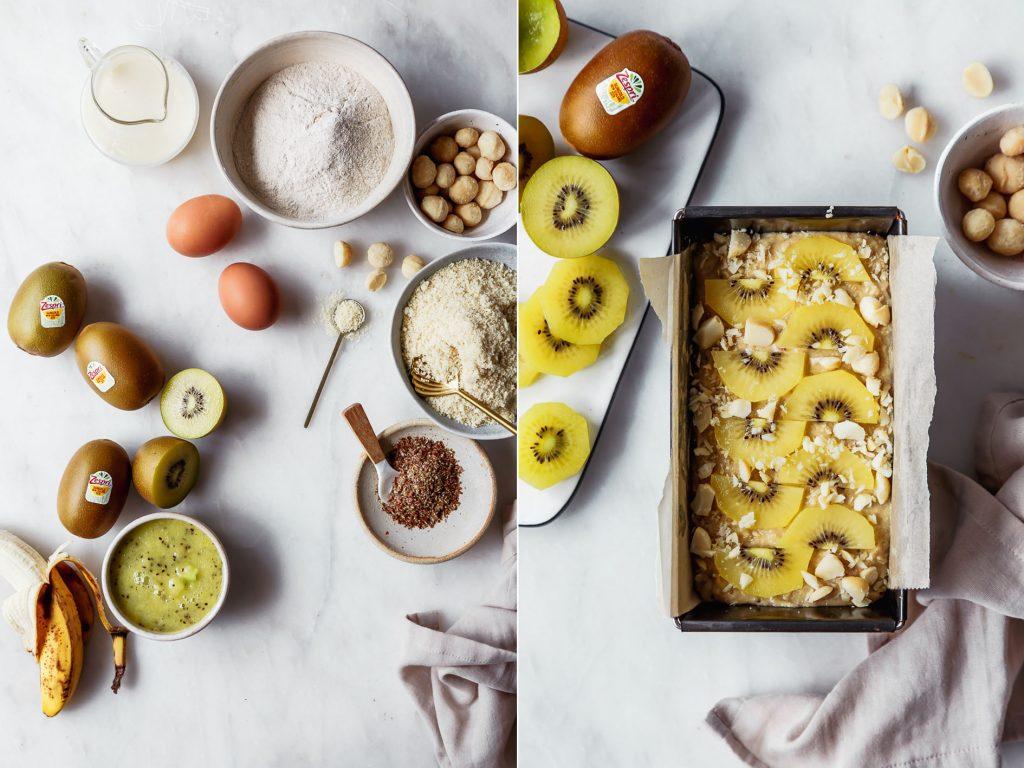Gesunde Kiwi-Banana Bread