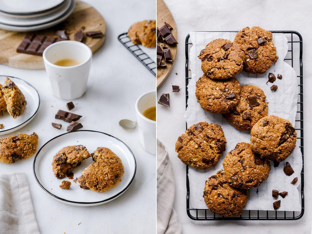 Gesündere Schokoladen-Chip-Cookies