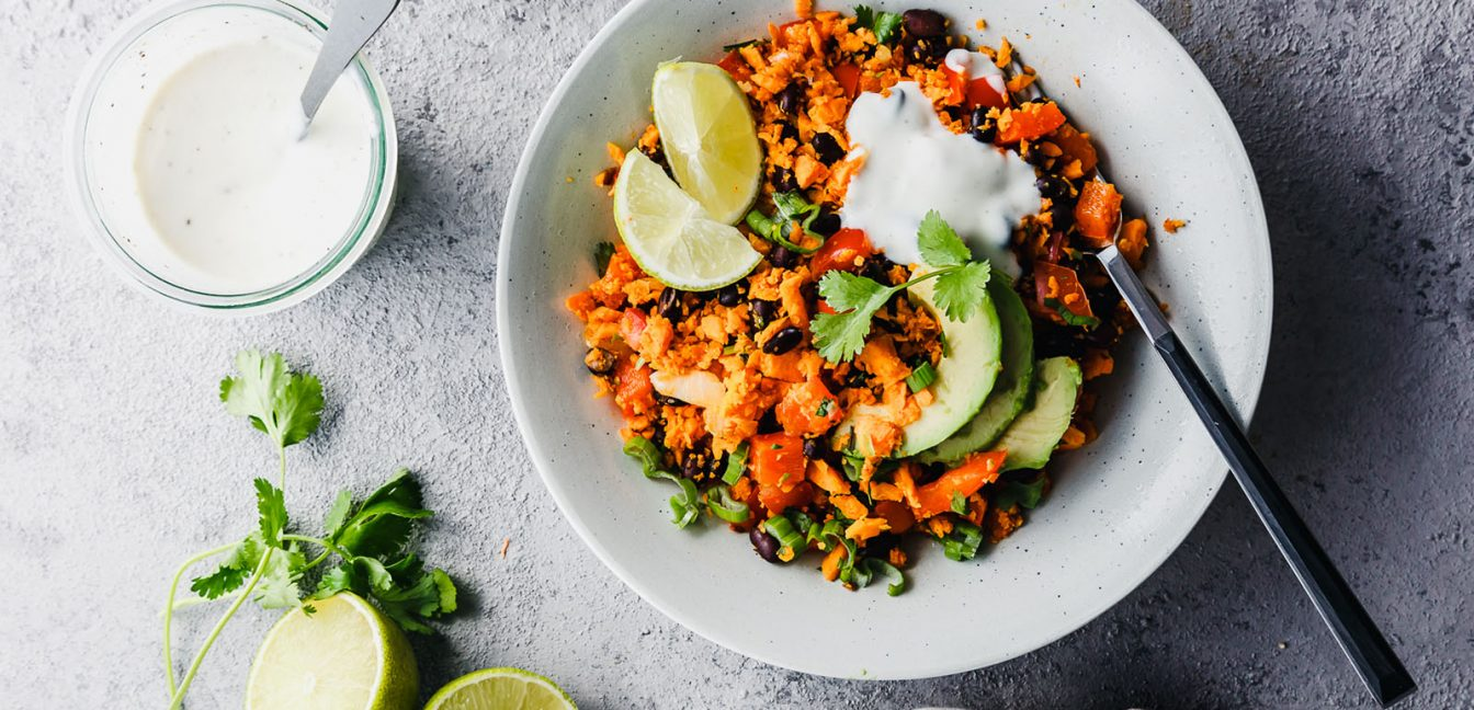 Mexikanischer Süßkartoffel-Reis