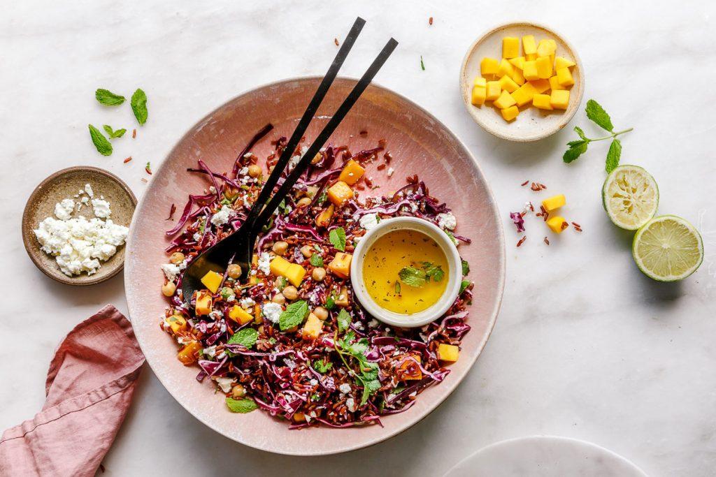 Roter Reissalat mit Mango