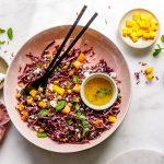 Roter Reissalat mit Kichererbsen und Feta