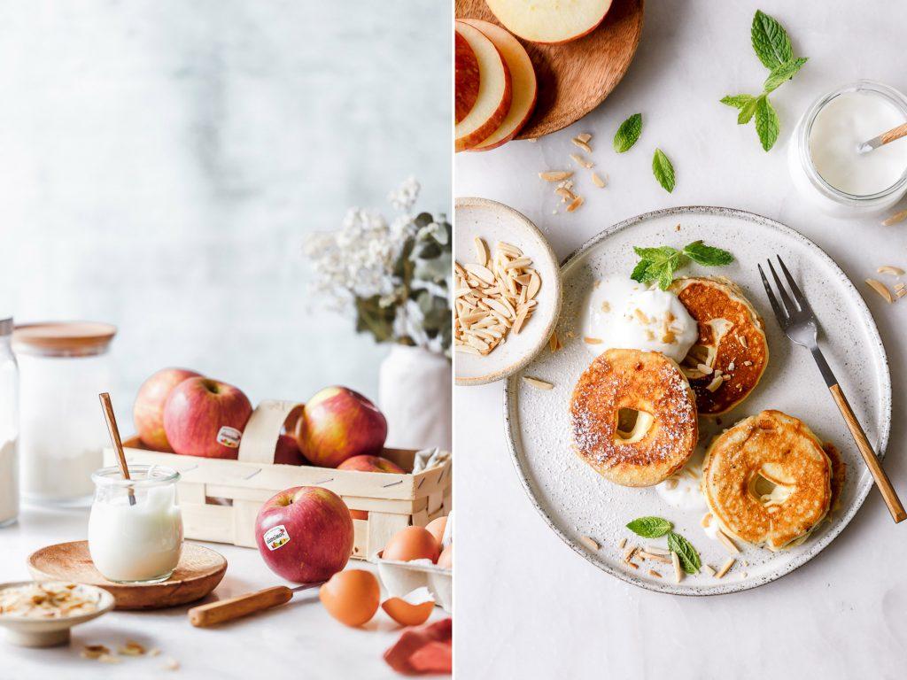 Apfelküchlein ohne Zucker und ohne Mehl