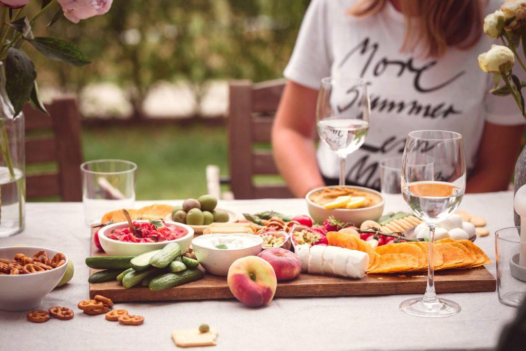 Sommerliches Snackboard