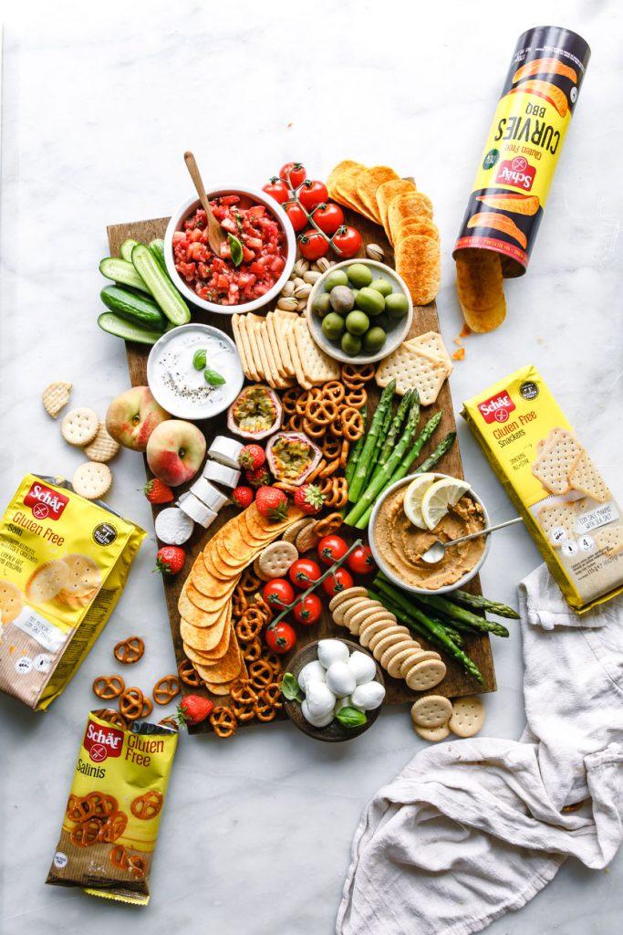 Glutenfreies Snackboard