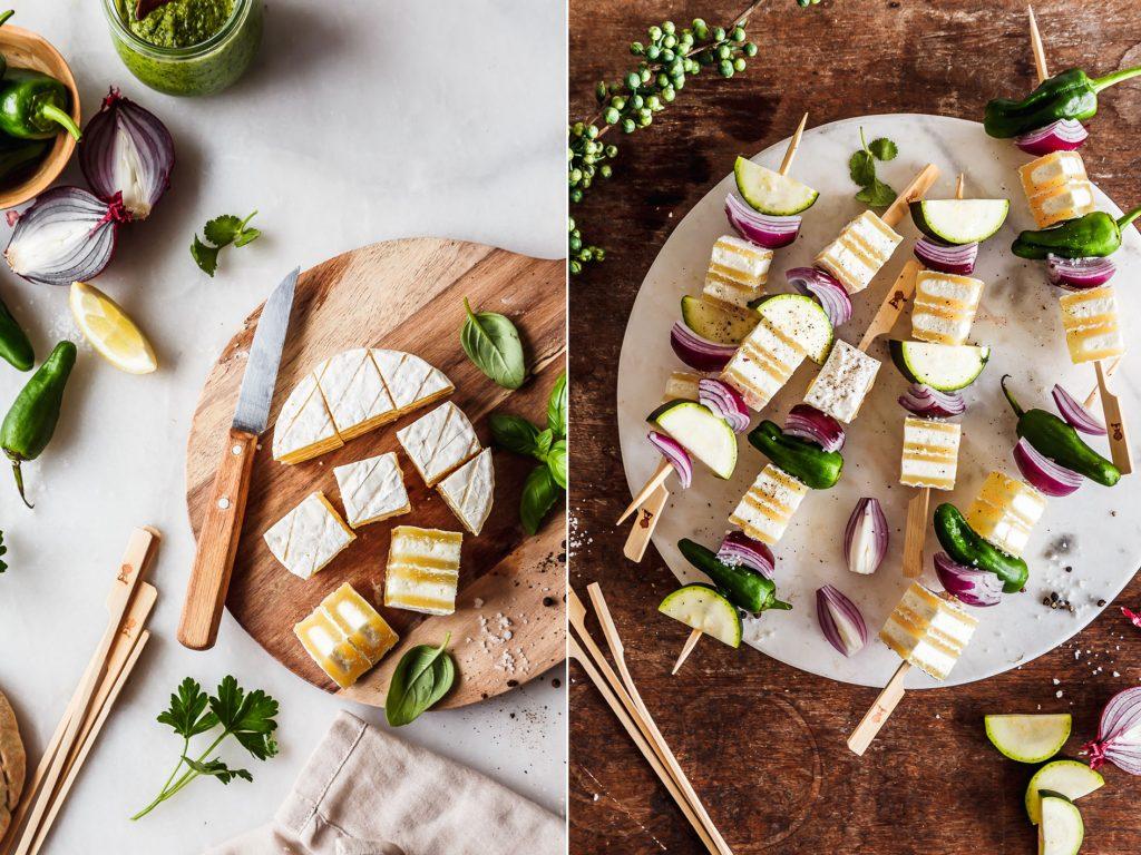 Grillspieße mit Käse