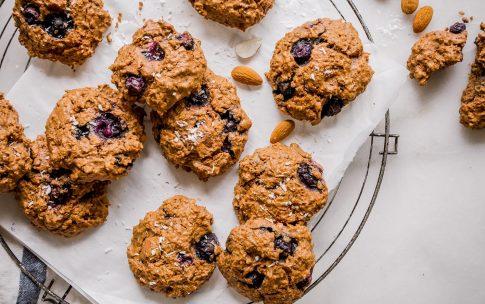 Blaubeer-Cookies – gesunder süßer Snack ohne Zucker