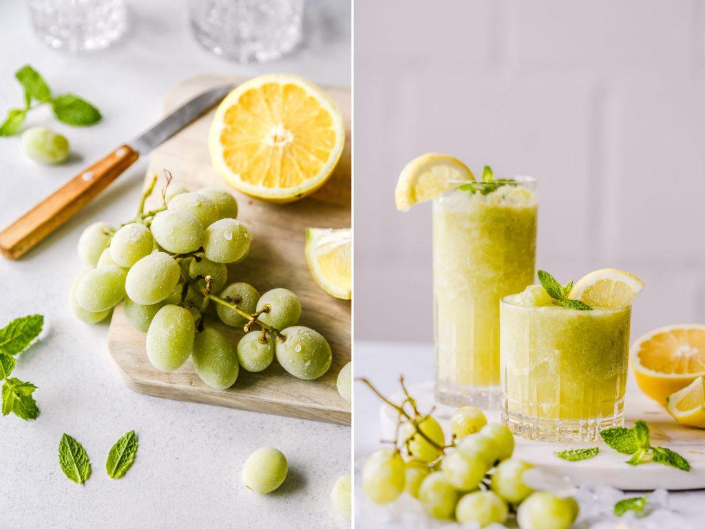 Drink aus gefrorenen Weintrauben
