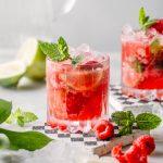 alkoholfreier Himbeer Mojito
