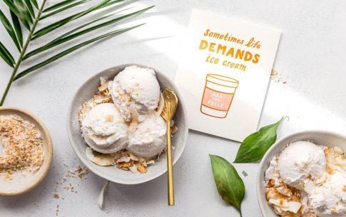 Schnelles Kokos-Eis ohne Eismaschine