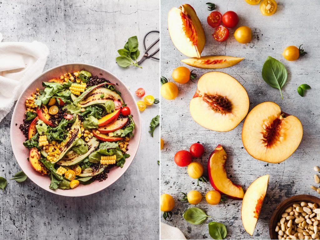 Fruchtiger Sommersalat mit Zucchini