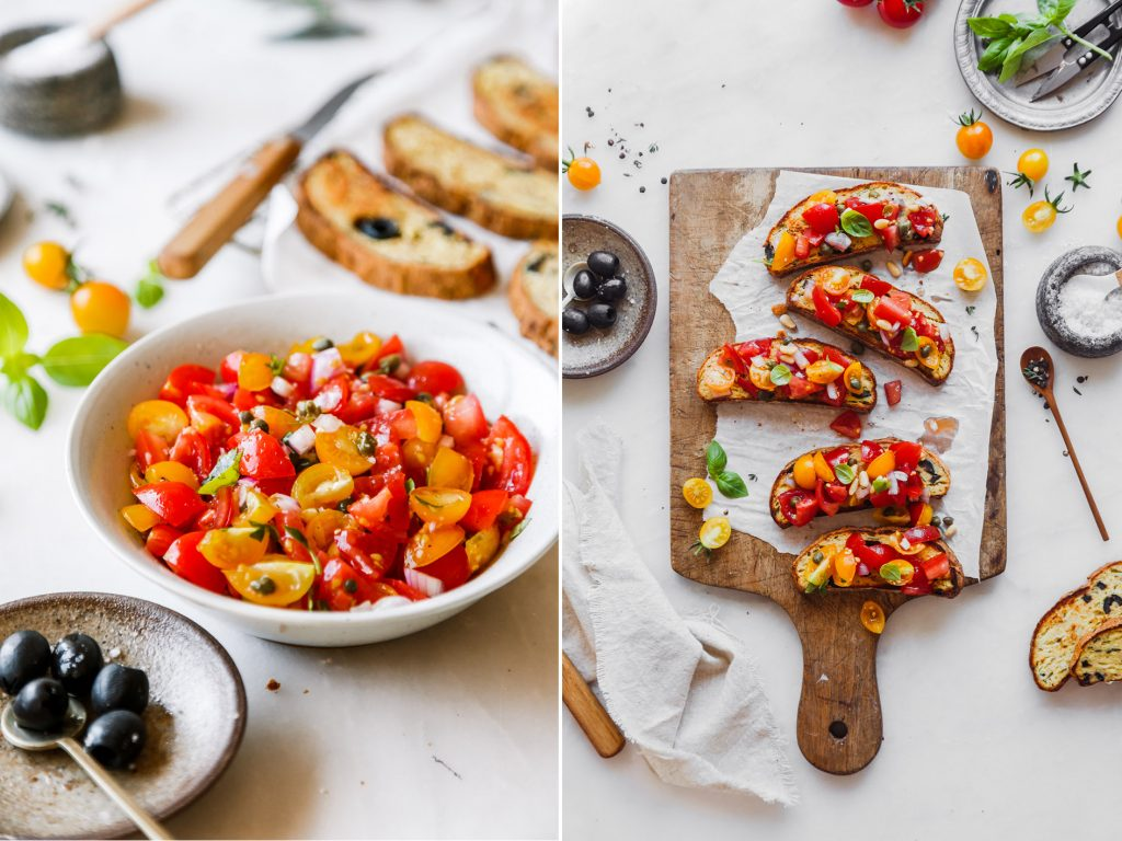 Tomatenbruschtte mit Olivenbrot