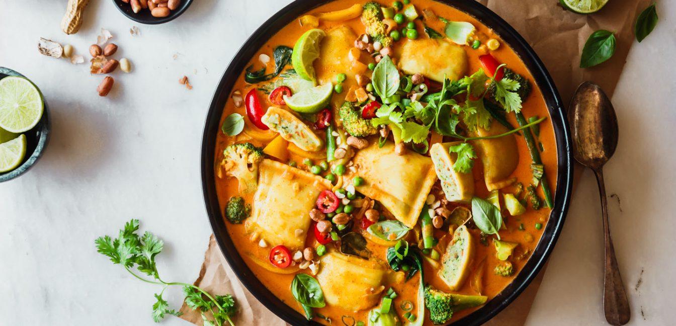 Gemüse-Maultaschen-Curry