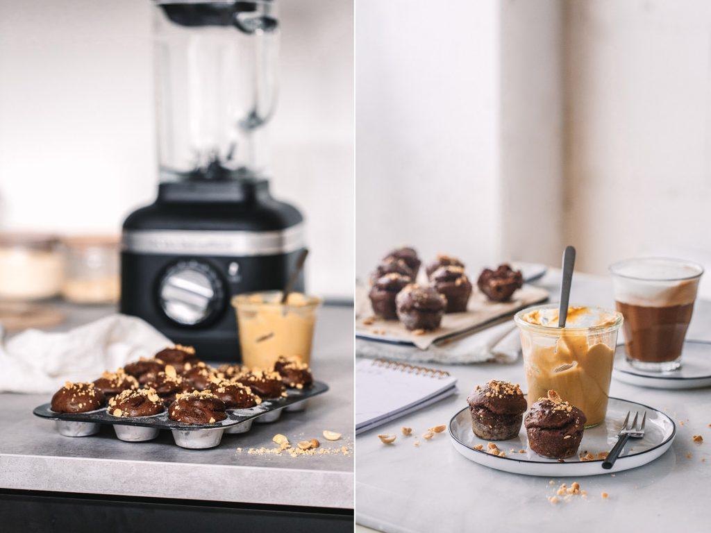 Mini Schoko-Muffins aus dem Mixer (5 Zutaten)