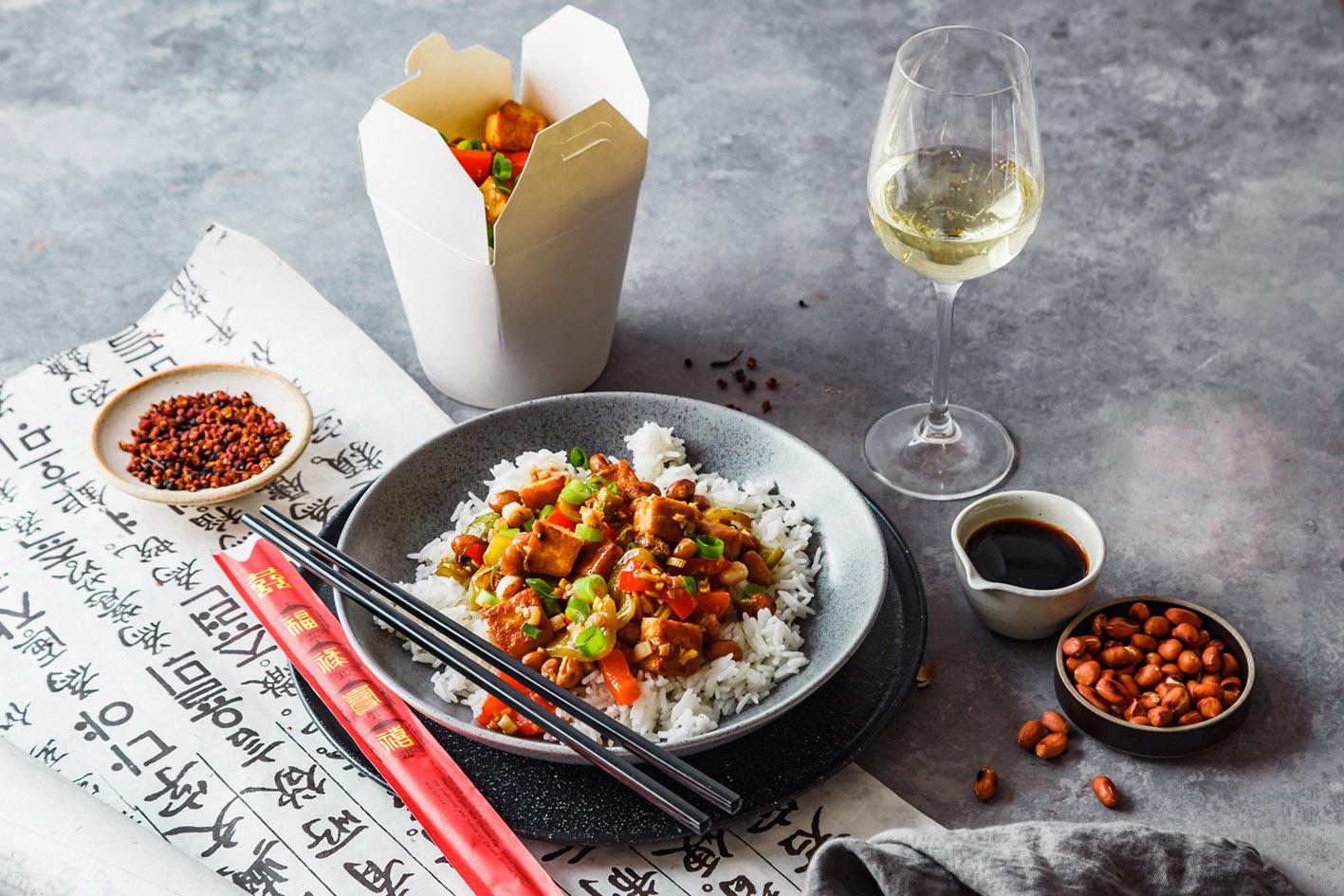 Rezept für veganes Kung Pao Tofu